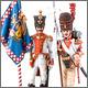 Знамённая группа 6-го линейного полка «Napoli», 1812 г.