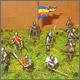 Пешие рыцари, позднее средневековье