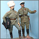 Генерал-лейтенант С.Л.Марков и капитан 1го офицерского полка. Ледовый поход, 1918