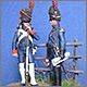 Штаб-офицер и рядовой гвардейской пешей артиллерии, 1812 г.