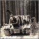 ИСУ-152 в зимнем лесу. Зима 1944-45.