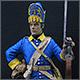 Гренадер полка Меллина. Швеция, 1702-10 гг.
