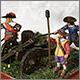 Артиллеристы с пушкой, XVII век