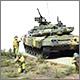 Танк Т-90 и пехота