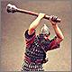 Ассирийский воин с булавой