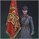 Ст. сержант РККА со знаменем, 1941 г.
