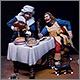 Горничная и кавалер за столом