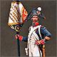 Старший сержант - орлоносец 4-го линейного полка. Франция, 1805 г.