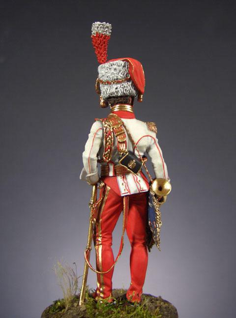 Фигурки: Старший трубач 2-го полка улан Императорской Гвардии (1810-15 гг.), фото #3