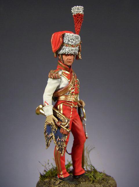 Фигурки: Старший трубач 2-го полка улан Императорской Гвардии (1810-15 гг.), фото #4