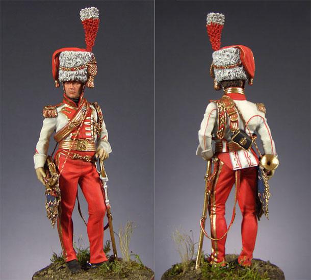 Фигурки: Старший трубач 2-го полка улан Императорской Гвардии (1810-15 гг.)