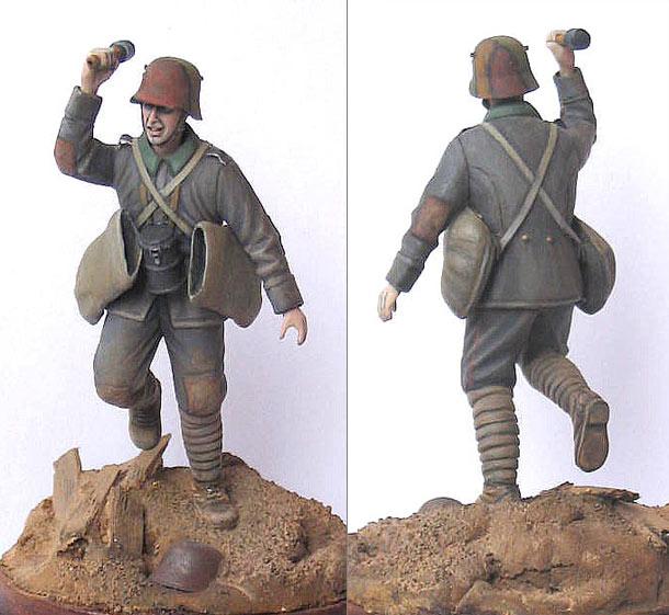 Фигурки: Германский гранатометчик, 1916-17гг.