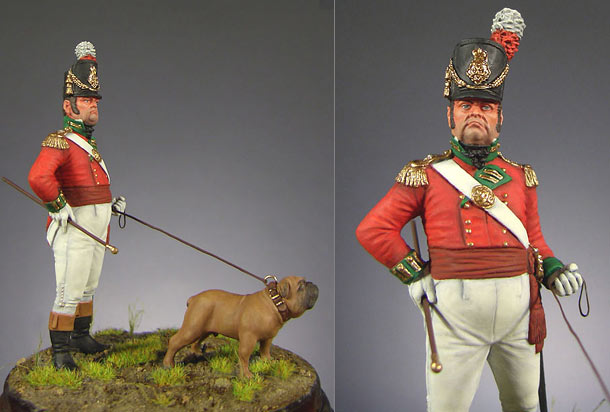 Фигурки: Офицер полка тяжёлой пехоты (Англия, 1809 г.)