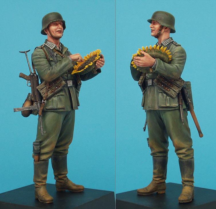 Фигурки: Немецкий солдат с подсолнухом, фото #3
