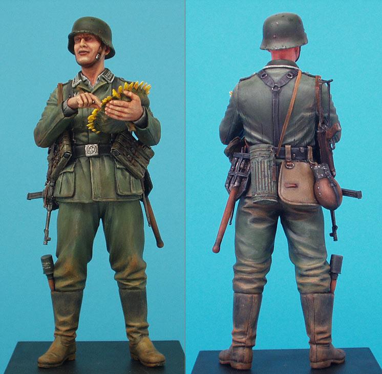 Фигурки: Немецкий солдат с подсолнухом, фото #4