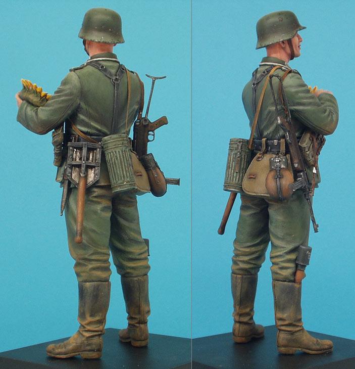 Фигурки: Немецкий солдат с подсолнухом, фото #5