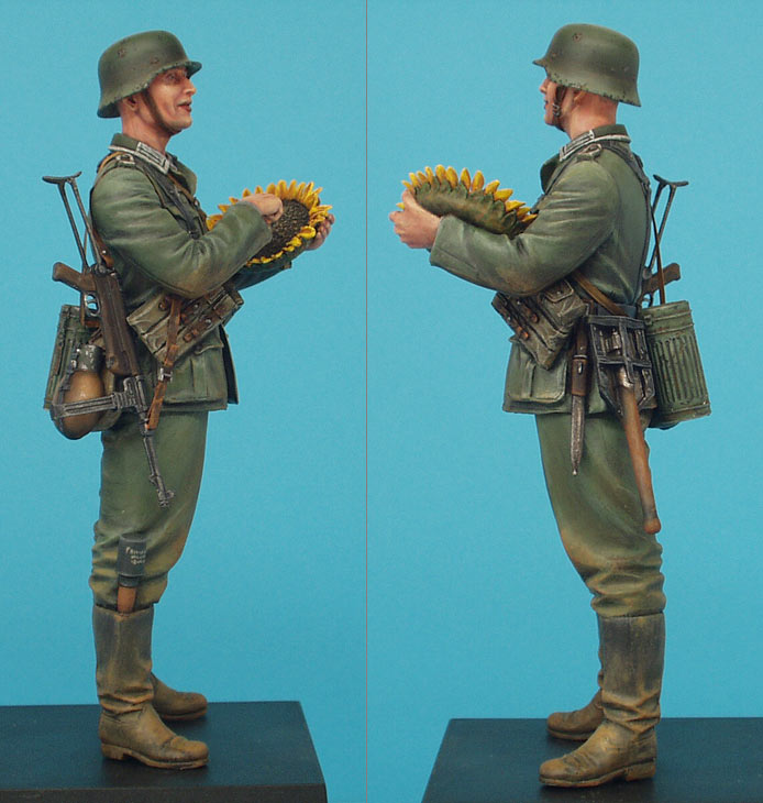 Фигурки: Немецкий солдат с подсолнухом, фото #6