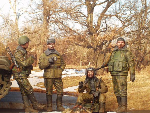 Фигурки: Российские солдаты на отдыхе (Чечня)