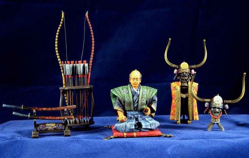 Фигурки: Самурай, стоящий на коленях, фото #1