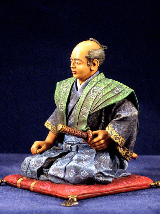 Фигурки: Самурай, стоящий на коленях, фото #2