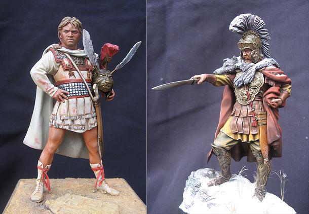 Фигурки: Александр Македонский и полководец армии Ганнибала