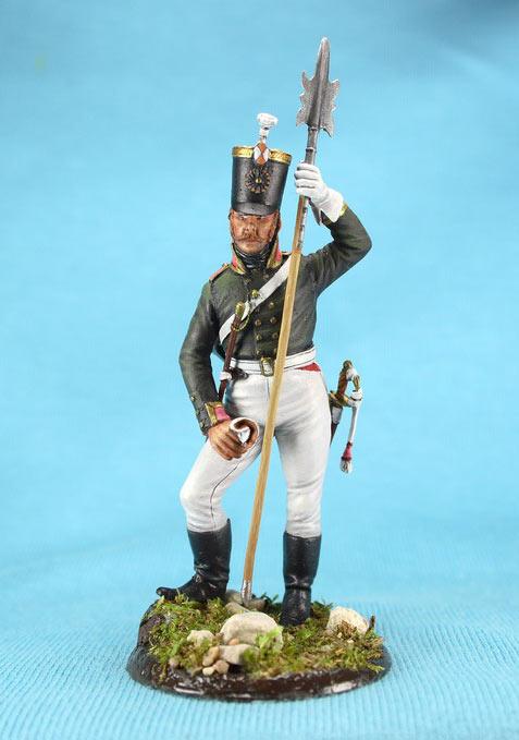 Фигурки: Унтер-офицер русской пехоты, Смоленский полк, 1805 г., фото #1