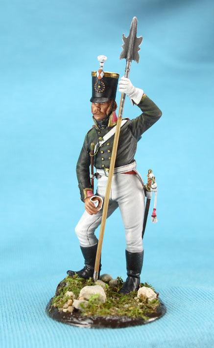 Фигурки: Унтер-офицер русской пехоты, Смоленский полк, 1805 г., фото #2