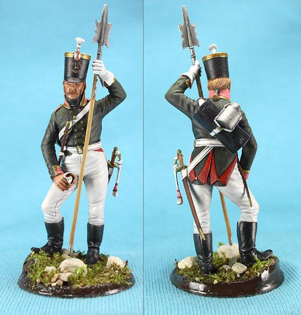 Фигурки: Унтер-офицер русской пехоты, Смоленский полк, 1805 г.