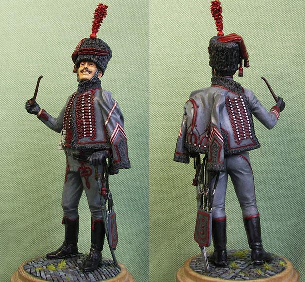 Фигурки: Бригадир-фурьер элитной роты 3-го гусарского полка Великой Армии