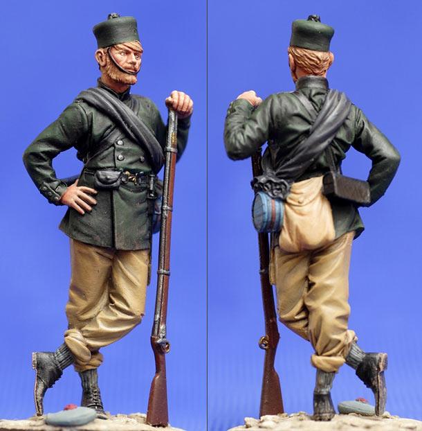 Фигурки: Рядовой английской стрелковой бригады. Севастополь, 1855