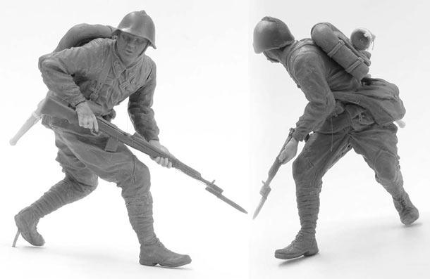 Скульптура: Захлебнувшаяся атака (2)