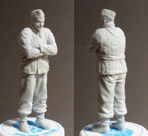 Скульптура: Замерзший танкист