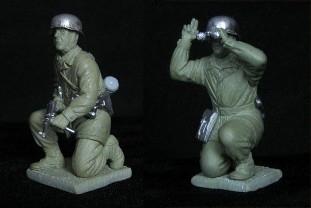 Скульптура: Германские парашютисты, 2МВ