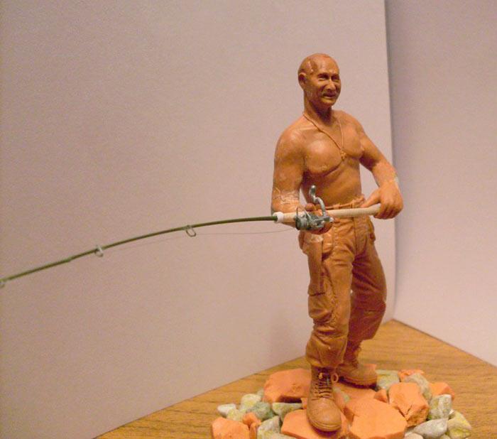 Скульптура: Владимир Путин на рыбалке, фото #1