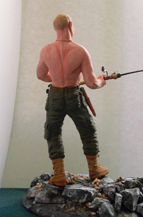 Скульптура: Владимир Путин на рыбалке, фото #11