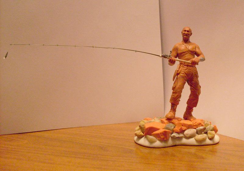 Скульптура: Владимир Путин на рыбалке, фото #2