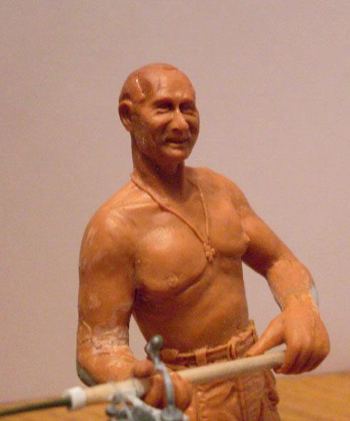 Скульптура: Владимир Путин на рыбалке, фото #3