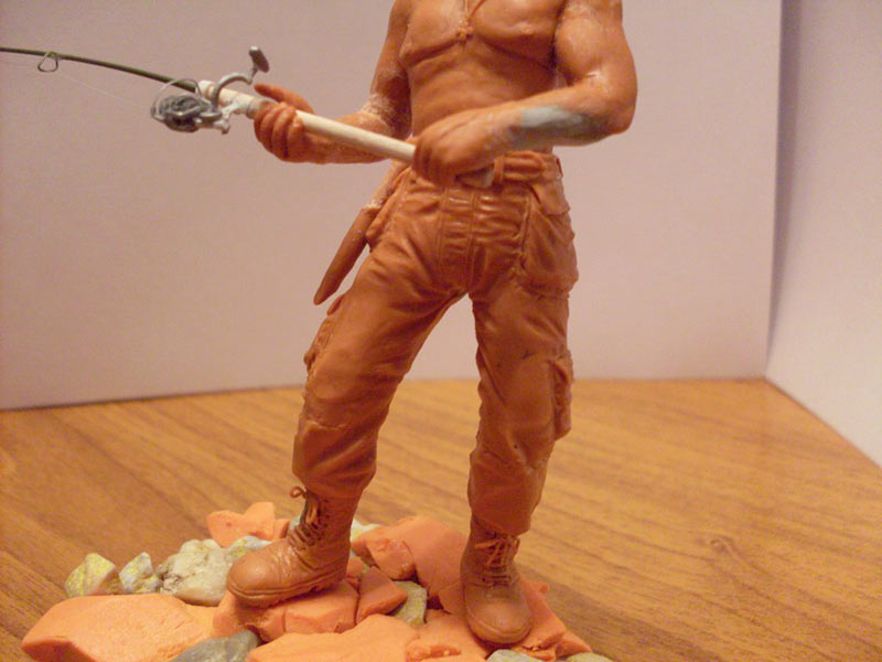 Скульптура: Владимир Путин на рыбалке, фото #4