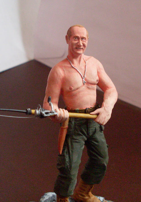 Скульптура: Владимир Путин на рыбалке, фото #7
