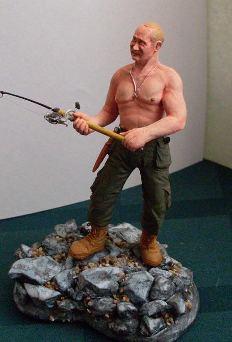 Скульптура: Владимир Путин на рыбалке, фото #8