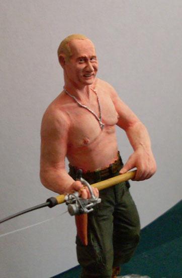 Скульптура: Владимир Путин на рыбалке, фото #9