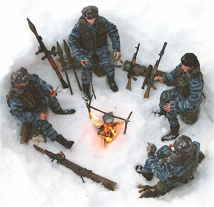 Разное: Питерский ОМОН в Чечне, Старые Атаги, 2002 , фото #11