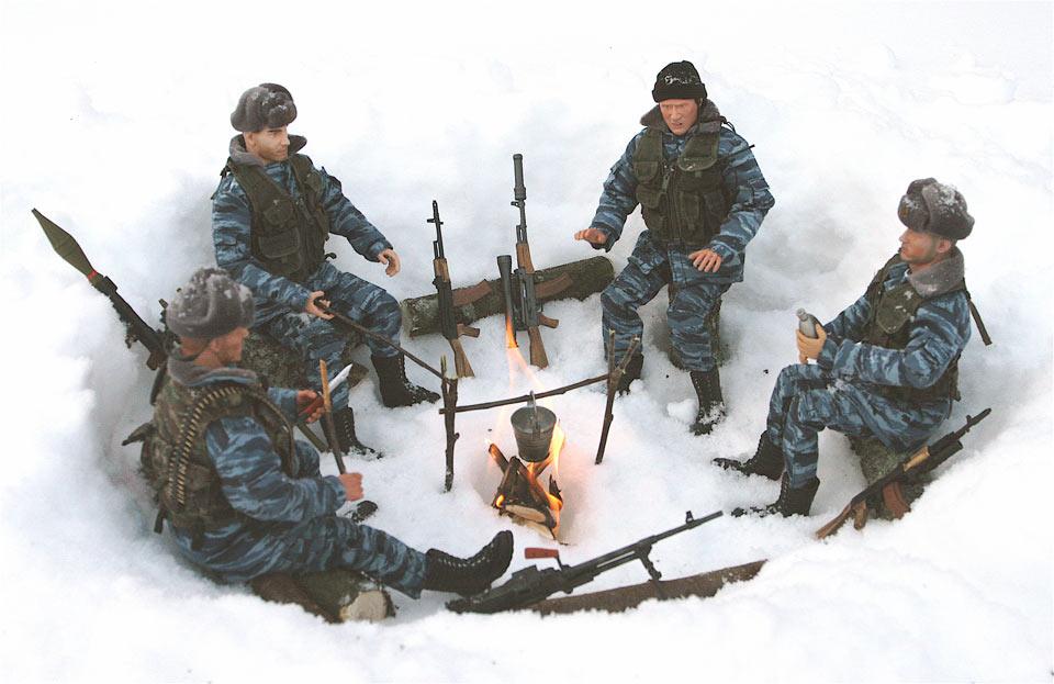 Разное: Питерский ОМОН в Чечне, Старые Атаги, 2002 , фото #12