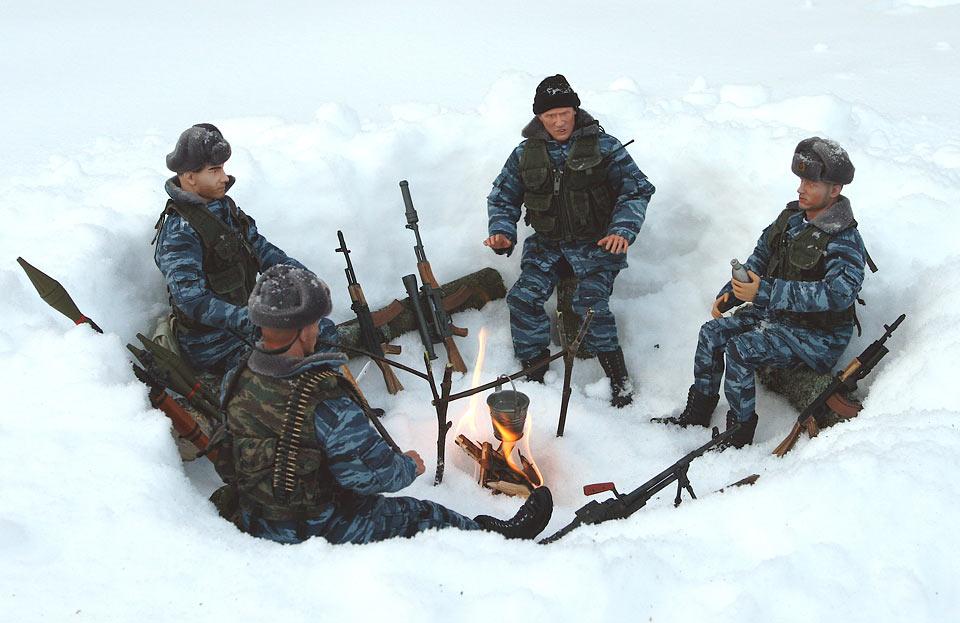 Разное: Питерский ОМОН в Чечне, Старые Атаги, 2002 , фото #2