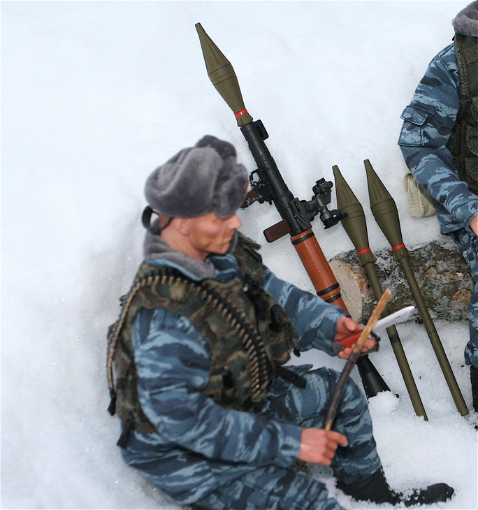 Разное: Питерский ОМОН в Чечне, Старые Атаги, 2002 , фото #7