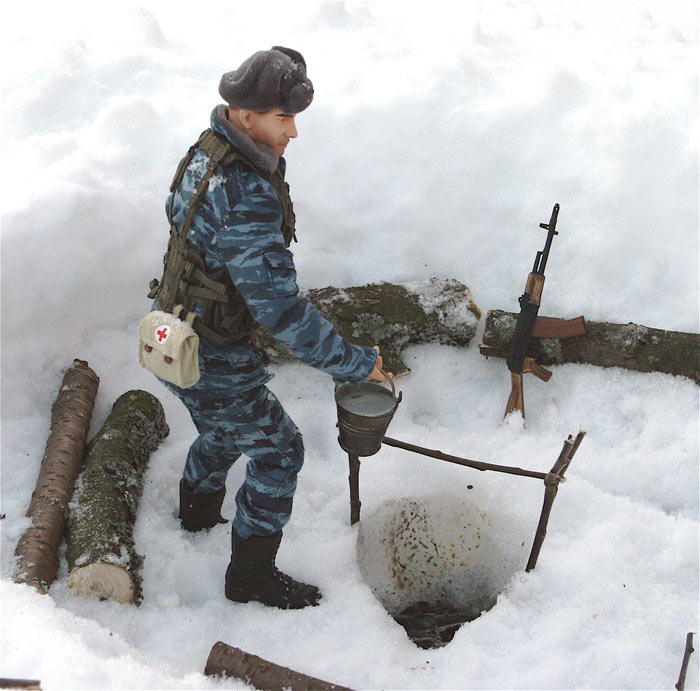 Разное: Питерский ОМОН в Чечне, Старые Атаги, 2002 , фото #8