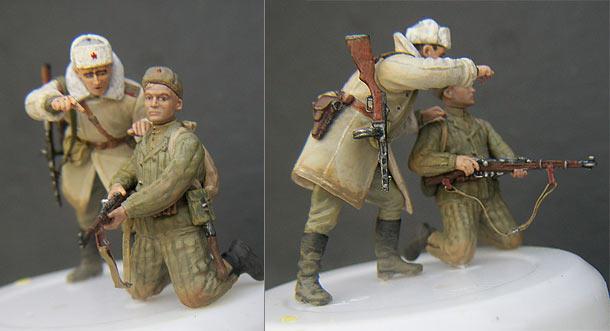 Фигурки: Боец и офицер Красной Армии