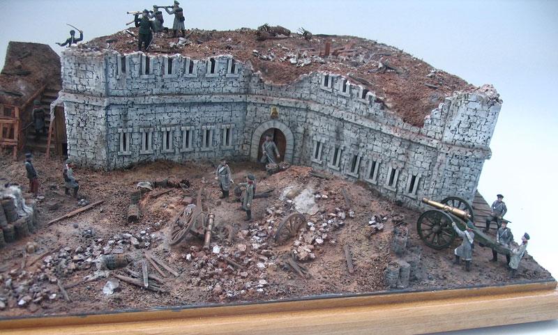 Диорамы и виньетки: Оборонительная башня Малахова кургана. Крымская война, фото #1
