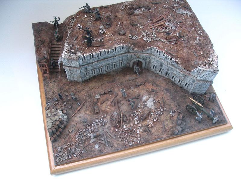Диорамы и виньетки: Оборонительная башня Малахова кургана. Крымская война, фото #5