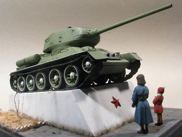 Диорамы и виньетки: Мама, а танк настоящий?